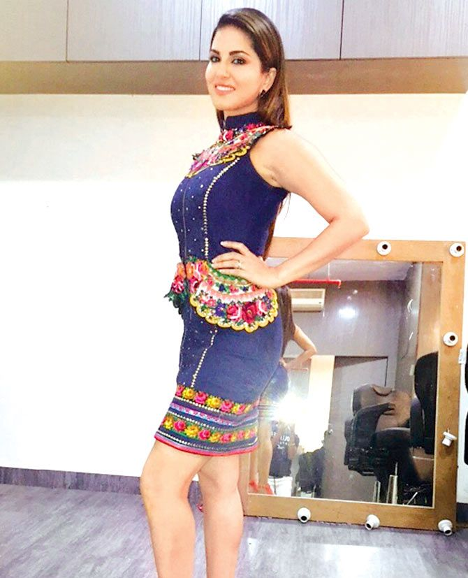 Sunny Leone at a film's promotion.