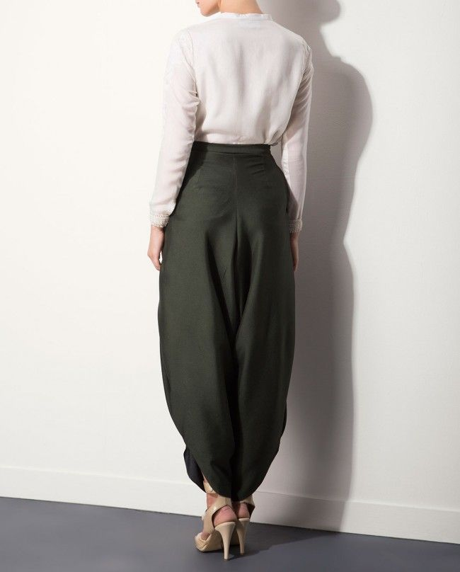 AM:PM Olive Green Harem Pants