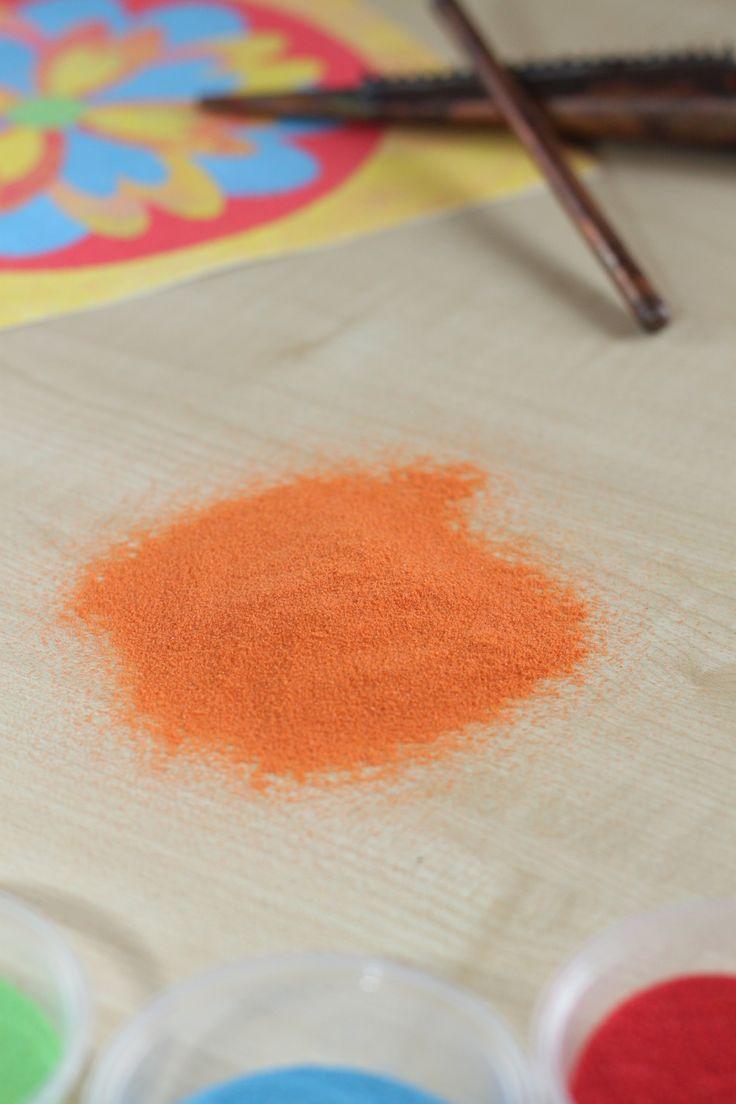 Barevný písek : Barevný písek - ORANŽOVÁ