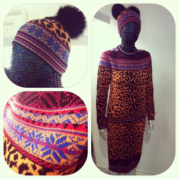 Quirk alert! Tribal and leopard-print knitwear by 'Sister by Sibling'.