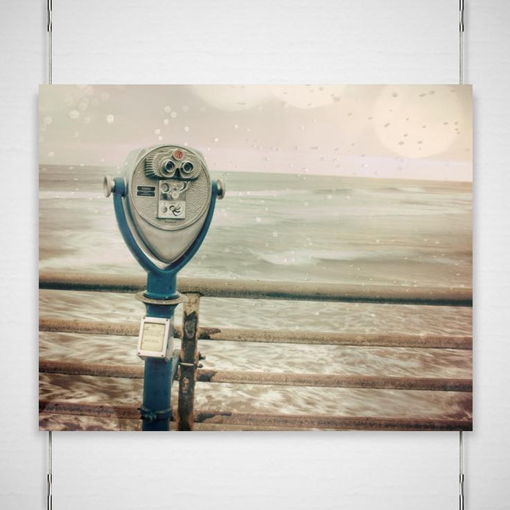 Dreamy Beach Photography 8x10 Metallic Photograph Print Binoculars boardwalk bokeh summer pale green pink wall art decor 'What A View'. $26.00, via Etsy.: Photography 8X8, Metals Photographers, Dreamy Beach, Photography 8X10, Beach Photography, 8X10 Photographers, Photographers Prints, Metals Jpgphotographi, Photography Ideas