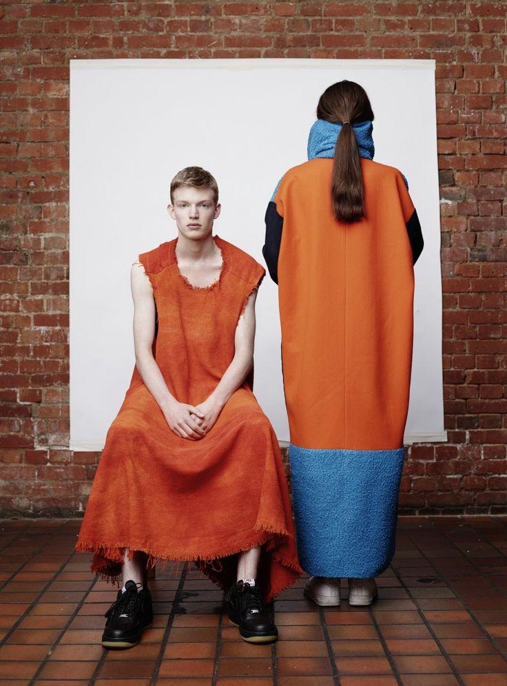 Northumbria University, Victoria Barwood (dress)  Kingston University, Josh Read, (coat)  GFW 2015