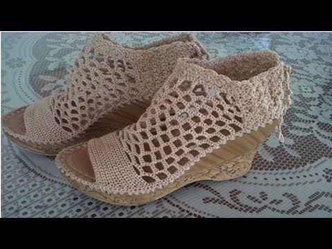 Zapatos tejidos - YouTube