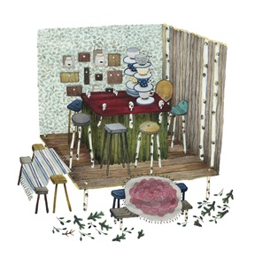 Image of Forest Tearoom -print