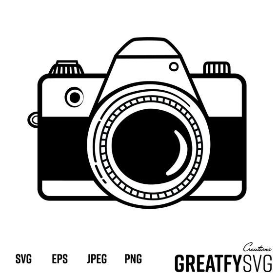 49++ Digital camera clipart black and white information