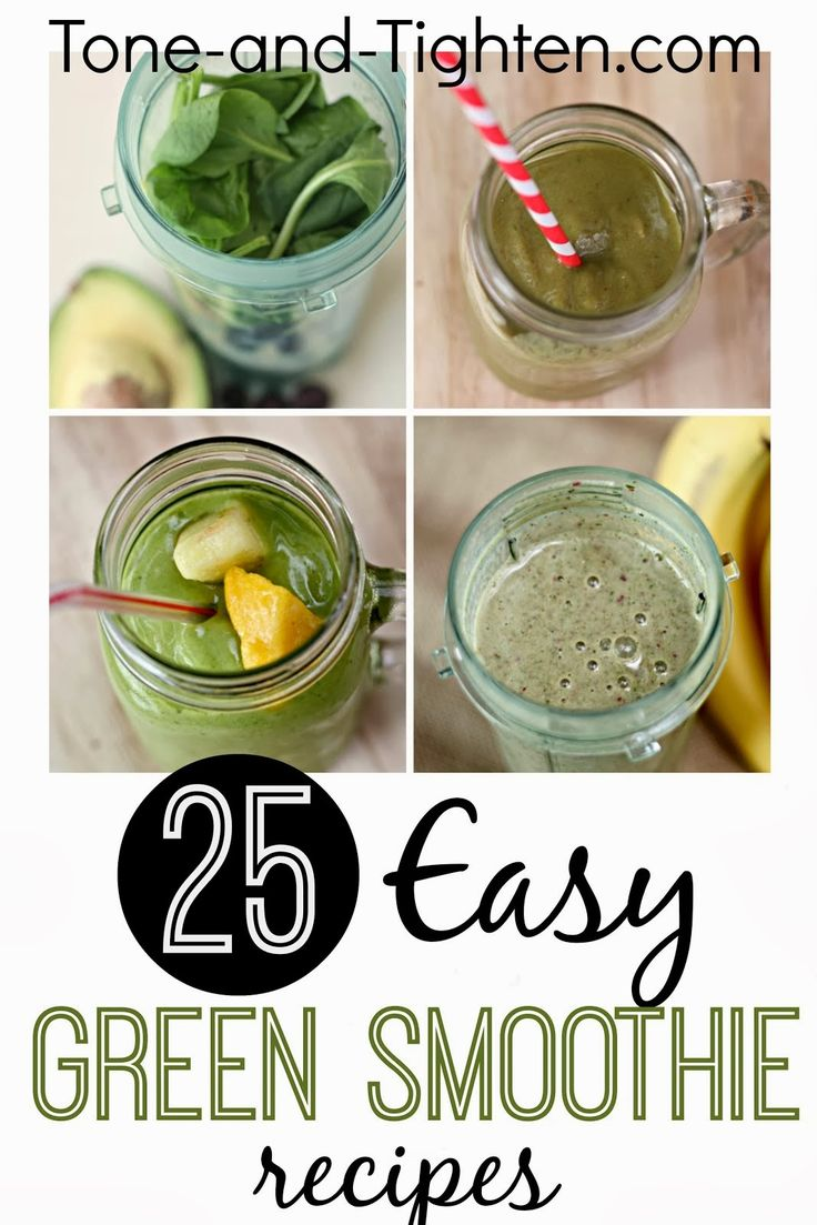 25 Easy Green Smoothie Recipes eBook – and my favorite Peaches 'n' Cream Green Smoothie Recipe | Tone and Tighten