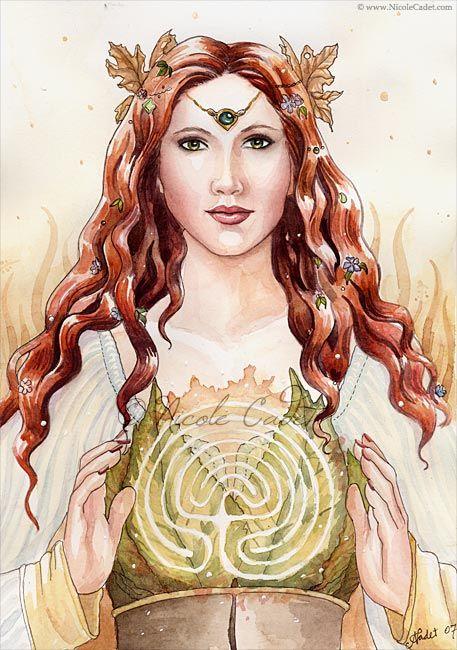 Ariadna la diosa de la Luna es la dueña de todos los laberintos-nicole-cadet