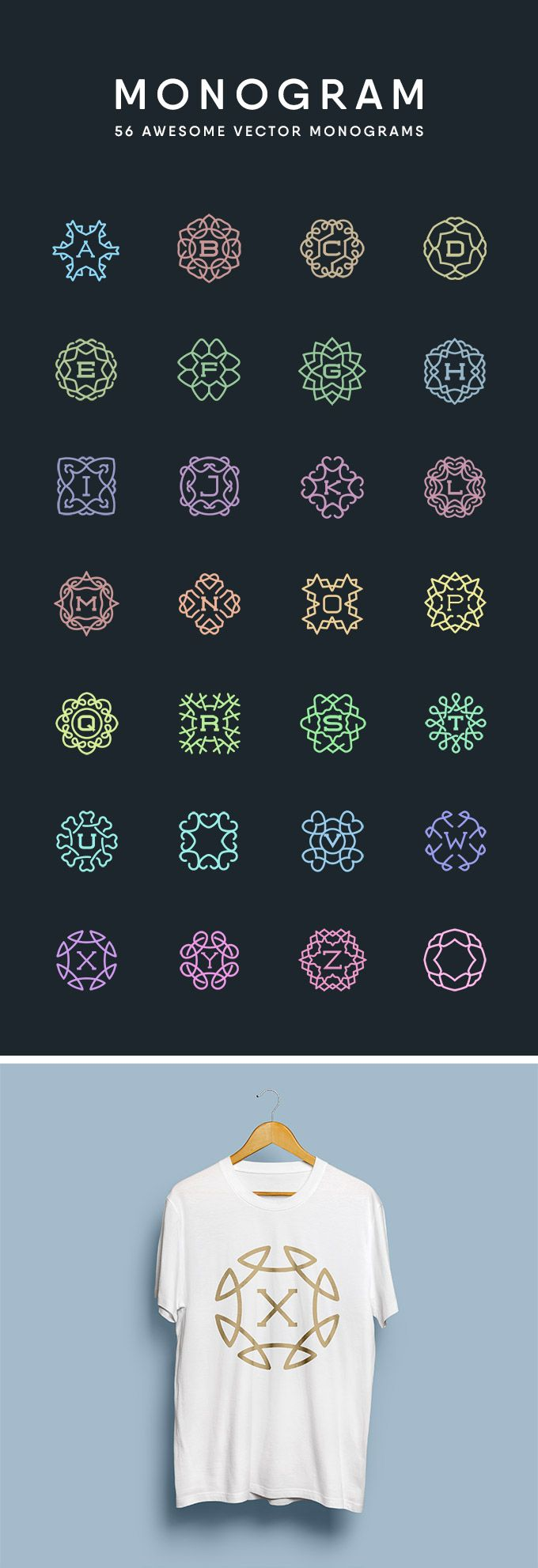 56 Awesome Vector Monograms