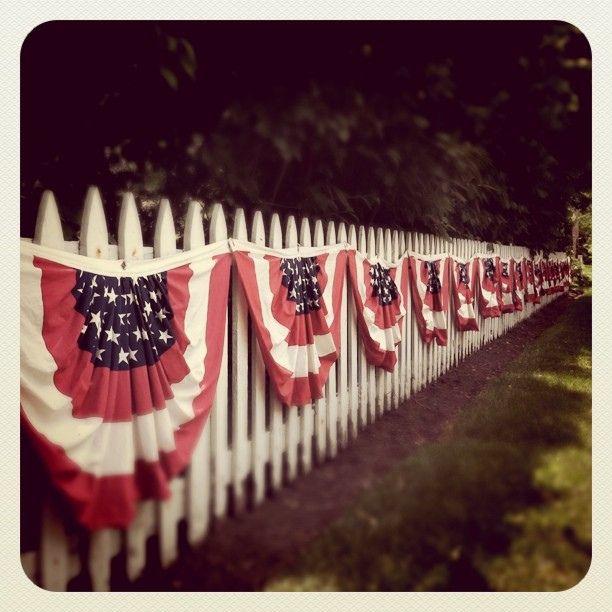 patriotic white picket fence