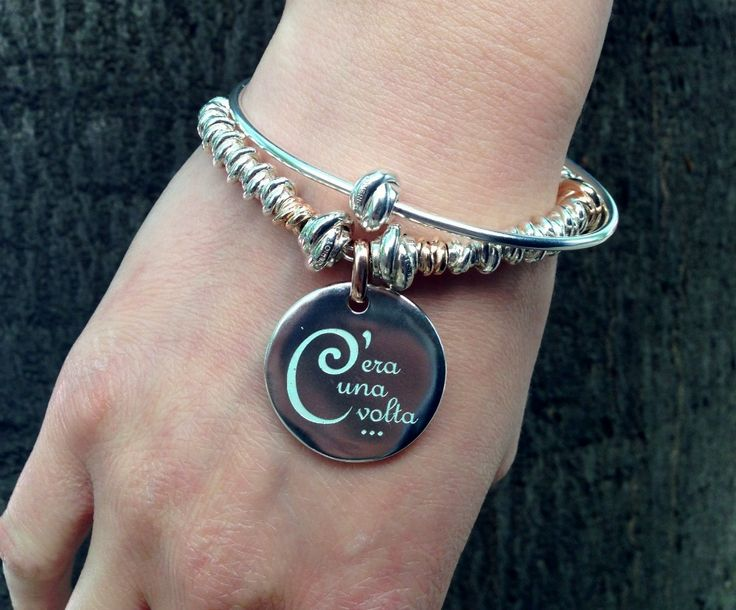 c'era una volta, bracciale, bracelet, silver, beads, queriot, civita