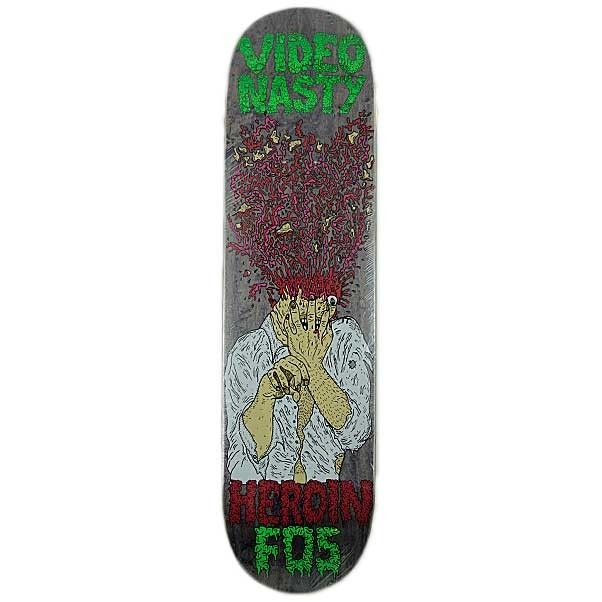 "HEROIN SKATEBOARD DECK FOS 8.125"" VIDEO NASTY  Buy Here: http://www.blacksheepstore.co.uk/heroin-skateboard-deck-fos-8-125-video-nasty.html"
