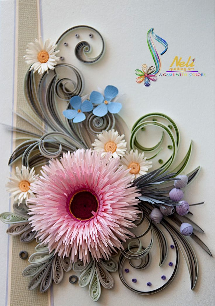 Neli Quilling Art: Quiling cards - flowers