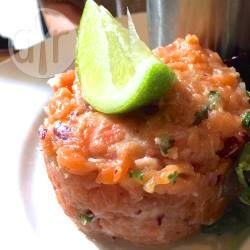 Photo recette : Tartare de saumon frais au citron vert