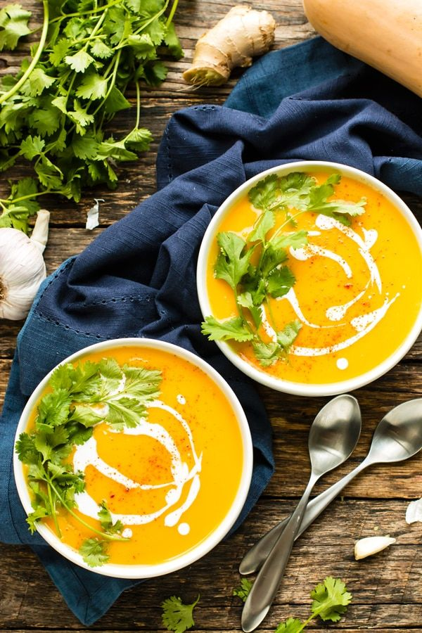 Roasted Butternut Squash Soup Recipe Coconut Milk Vegan Whole30 Recipe Butternut Squash Recipes Soup Butternut Squash Soup Squash Soup Recipe