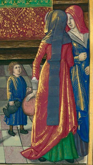 Titre : « Le Livre des faiz monseigneur saint Loys », composé à la requête du « cardinal de Bourbon » et de la « duchesse de Bourbonnois ».  Date d'édition : 1401-1500  Français 2829 folio 103r