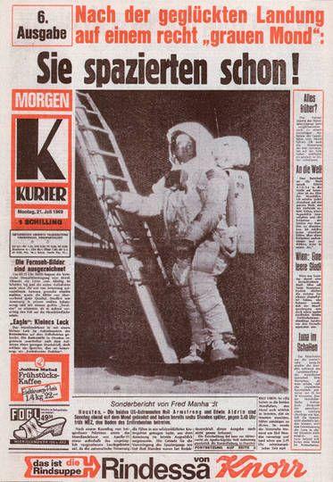So berichtete der KURIER im Jahr 1969  von der ersten Mondlandung.