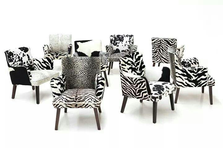 Animal print chairs from Jimmy Possum