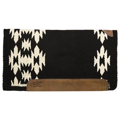 """Weaver Aztec Memory Foam Felt Bottom Western Saddle Pad- Z1 (Black/White)/34\""""x36\"""" and Outlet Bits/Tack 