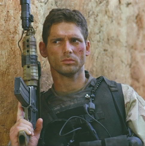 "Eric Bana as Norman ""Hoot"" Gibson in Black Hawk Down. Proof that's it's possible to fall in love with a movie character. ^.^"