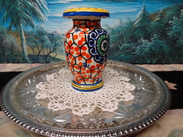 CZECH ART DECO POTTERY HAND PAINTED SLIP DESIGN VASE CZECHOSLOVAKIA RARE DECOR | eBay