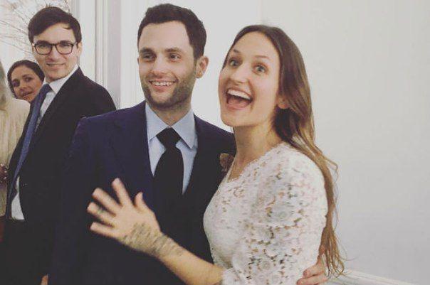 Звезда сериала Сплетница Пенн Бэджли женился на певице Домино Керк.