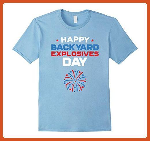 Mens 4th Of July T-Shirt Happy Backyard Explosives Day ...