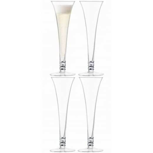 LSA International Prosecco Flutes Platinum - Set of 4