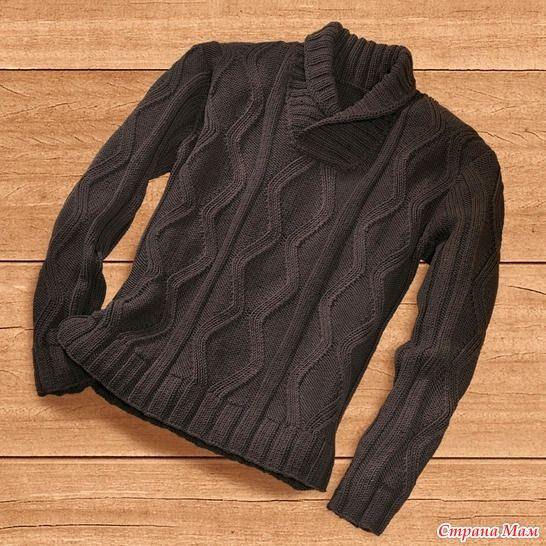 Как увидела этот свитер - сразу влюбилась и захотела и мужа побаловать. Оригинал: А вот в моем выполнении:  А вот, что у меня есть с описания: Поделились девочки с осинки.