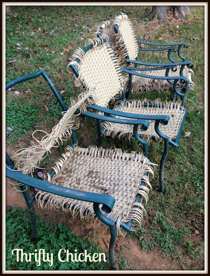 Patio Furniture Makeover, Plastic Wicker Patio Furniture Repair