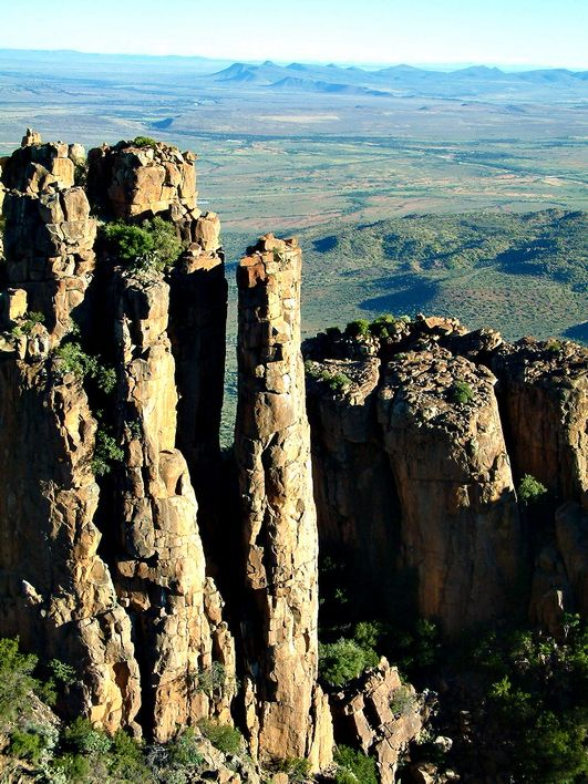 The valley of desolation near Graaff Reinet, South Africa.
