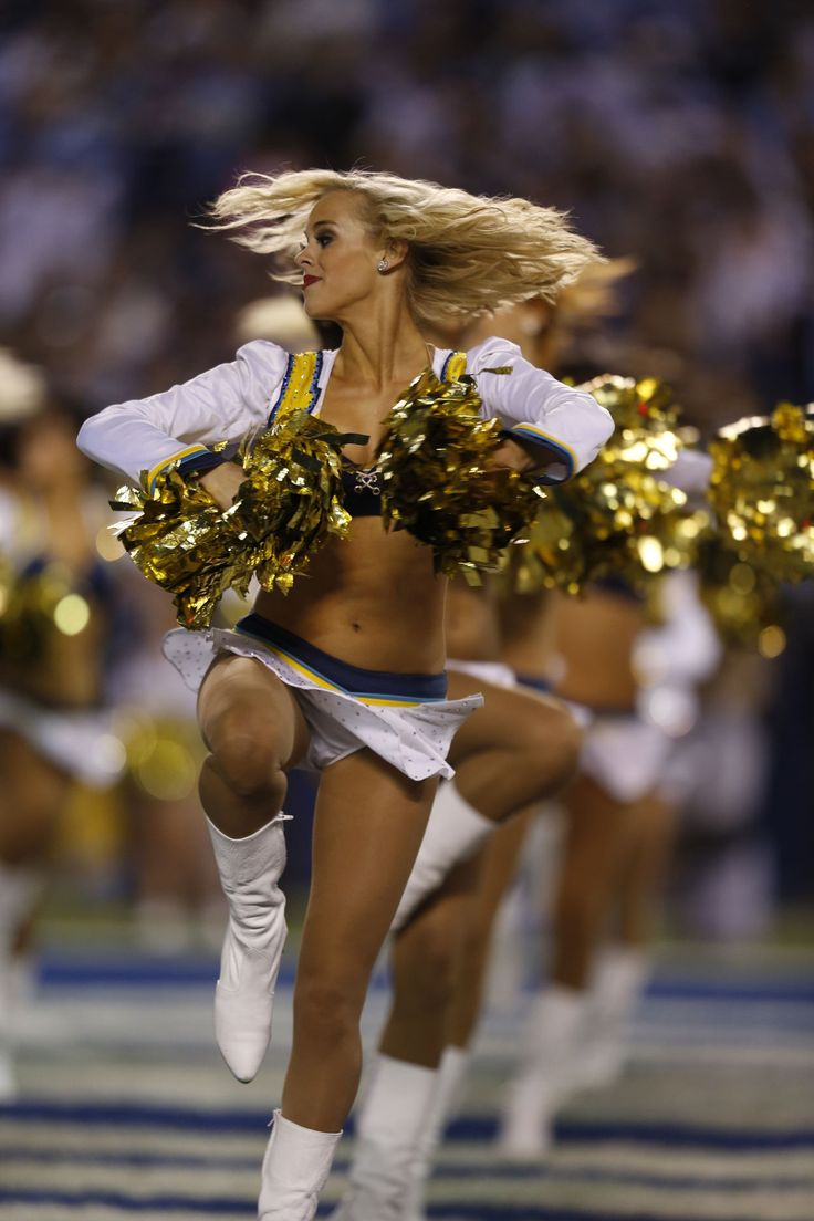 The San Diego Chargers Cheerleaders Perform During A Game
