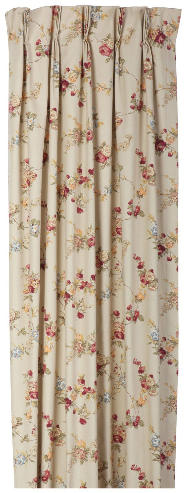 Ellis Curtain Fireside Floral Pinch Pleated Thermal Insulated Drapes..A thermal insulated foam back   improves light blocking & insulating qualities, saving energy & money year round. They  hold drafts, keeping out the cold & retaining heat during winter & during summer they block the suns rays  keeping the heat out retaining the cool air from the air conditioner. The pregathered pleated curtains are easily hung on a drapery/ traverse rod with drapery rings & pinch clips/ drapery hooks.