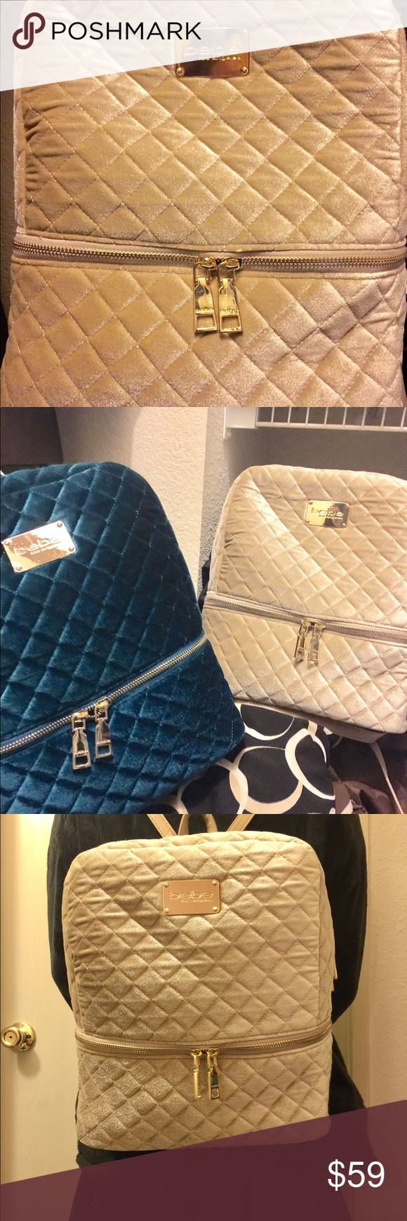 BeBe Gold Backpack Gorgeous Bebe gold backpack, trendy new style. BeBe Bags Backpacks