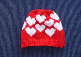 Free Knitting Pattern - Hats: Slouchy Valentine Hat