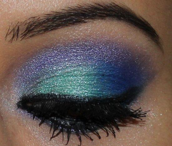 maquilhagem de olhos em tons de verde e azul - Pesquisa Google