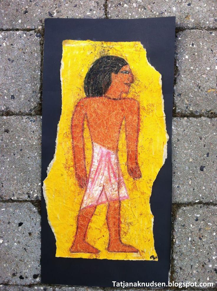 Kan man stå i positur som mennesker i egyptisk kunst