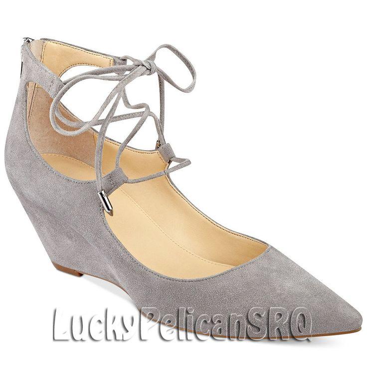Ivanka Trump Wedge Medium Width (B, M) Suede Shoes for Women