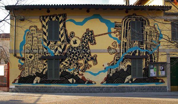 M-City in Carugate, ItalyStreet Artists, Art Insolite, Spanish Artists, Juxtapoz Magazines, Streetpubl Art, Aka M Cities, Intro Image, Street Publ Art, Polish Street