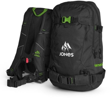 Jones Snowboards | Further 24 Snowboard Pack | Black/Green