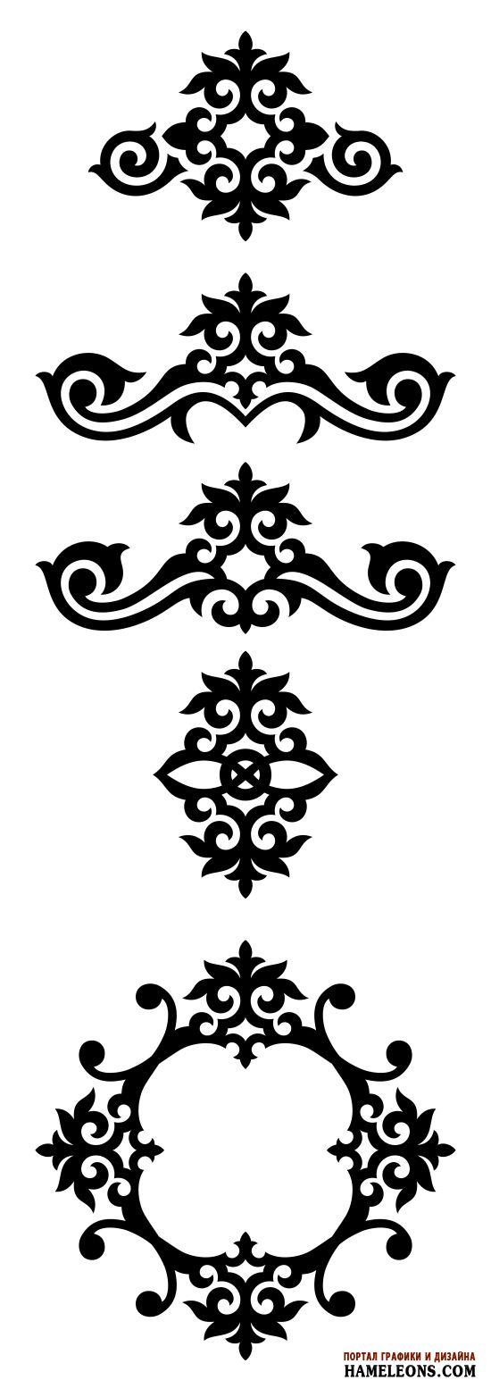 Казахстанский орнамент. Виньетки. Авторская работа