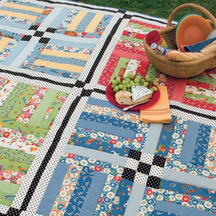 Is it picnic weather where you live yet? Download this Jelly Roll-friendly Picnic Basket quilt pattern by Barbara Brandeburg and Teri Christopherson for free when you sign in or register at ShopMartingale.