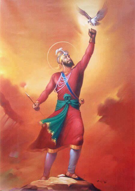 Guru gobind singh ji going to life size portrait these - Shri guru gobind singh ji wallpaper ...