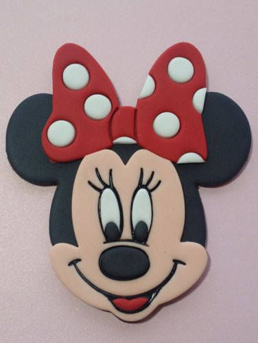 Red bow Minnie mouse cake topper