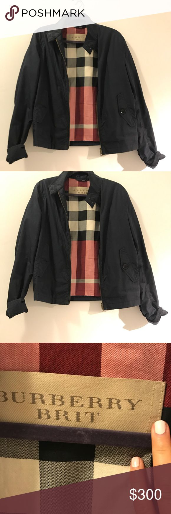 Burberry Brit Jacket Burberry Brit Jacket navy cotton bomber jacket - men's but I wear it too 🙂 Burberry Jackets & Coats