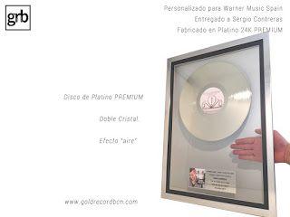 Discos de Oro y platino. Premios, galardones, awards, regalos empresariales.: Disco Platino Premium