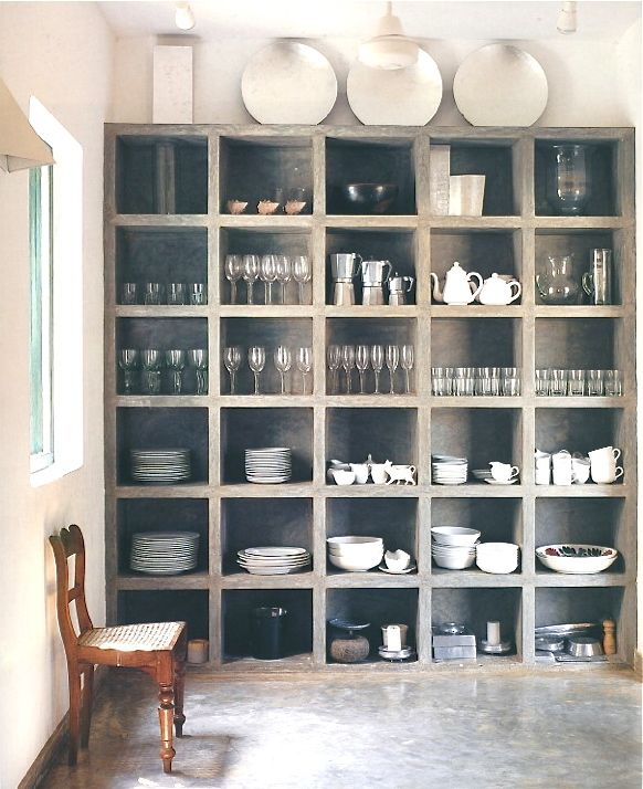 I have my white dishes displayed on a black shelf like this but I never thought to put the glasses up there, gonna try it.