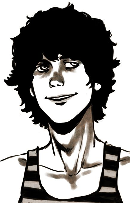how to draw curly guy hair