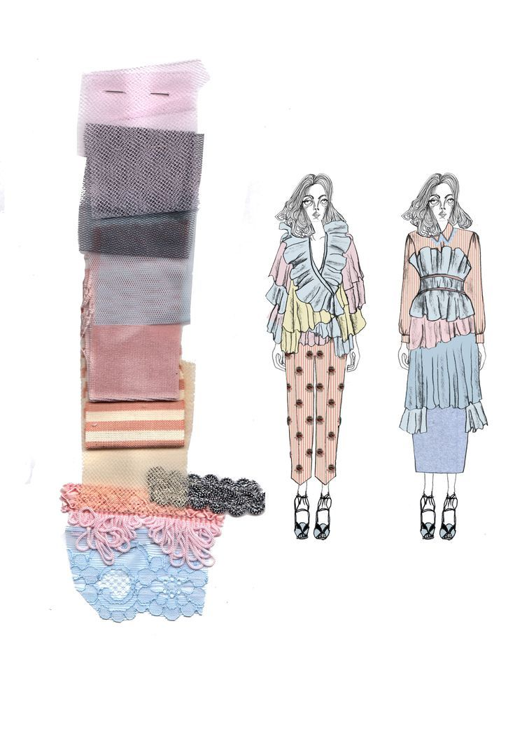 I think the positive about this piece is that it shows illustrations and the fabrics they would use.