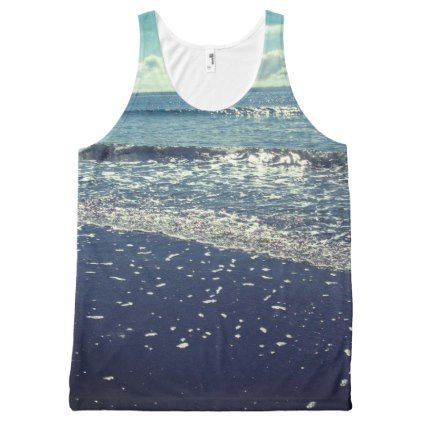 Nature Photo Oceans Rinse by Kat Worth All-Over-Print Tank Top - photos gifts image diy customize gift idea