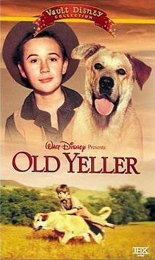 Old Yeller; I remember both reading the book and watching the movie and crying hysterically in both.